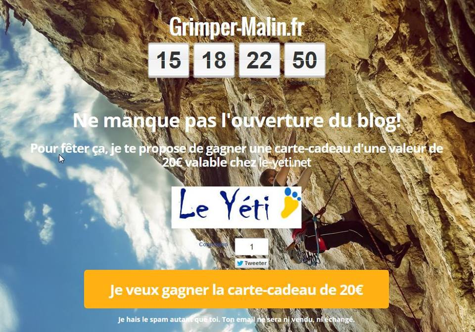 "Lancement du blog de grimpe ""Grimper-Malin.fr"" Grimper-malin"