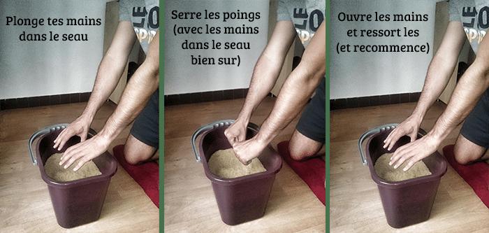 Exercice1 pour se muscler les avant bras en escalade