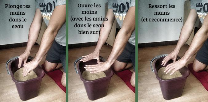 Exercice 2 pour se muscler les avant bras en escalade