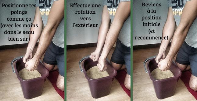 Exercic 3 pour se muscler les avant bras en escalade