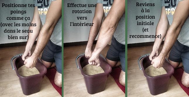 Exercice 4 pour se muscler les avant bras en escalade