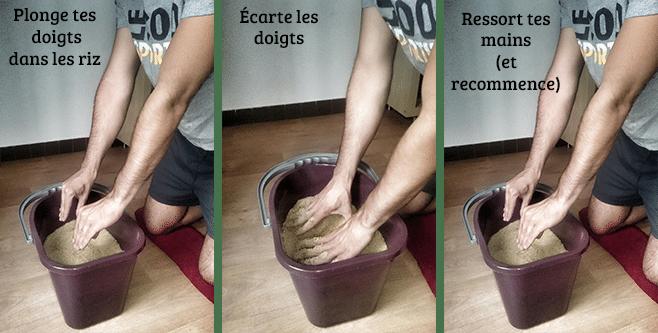 Exercice 8 pour se muscler les avant bras en escalade