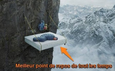 point de repos en escalade