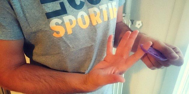 échauffement des doigt avec le powerfinger